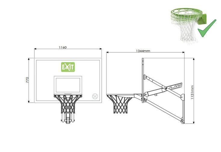 panier de basket mural r glable en hauteur galaxy sp cial. Black Bedroom Furniture Sets. Home Design Ideas