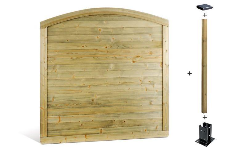 kit panneaux bois arc shangai 180x180 kit panneaux arc sapin shangai 180x180 jardipolys. Black Bedroom Furniture Sets. Home Design Ideas