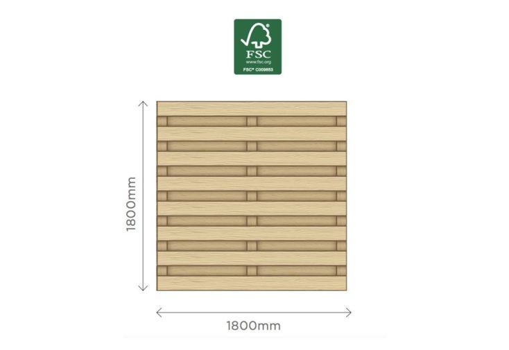 panneau en bois avec finition droite traité autoclave 180 cm