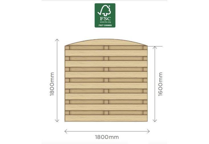 Panneau Bois Arqué Traité 1,80 x 1,80 m (l,h)