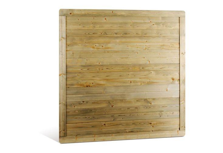 lot de 6 panneaux bois droit shangai 180x180 jardipolys. Black Bedroom Furniture Sets. Home Design Ideas