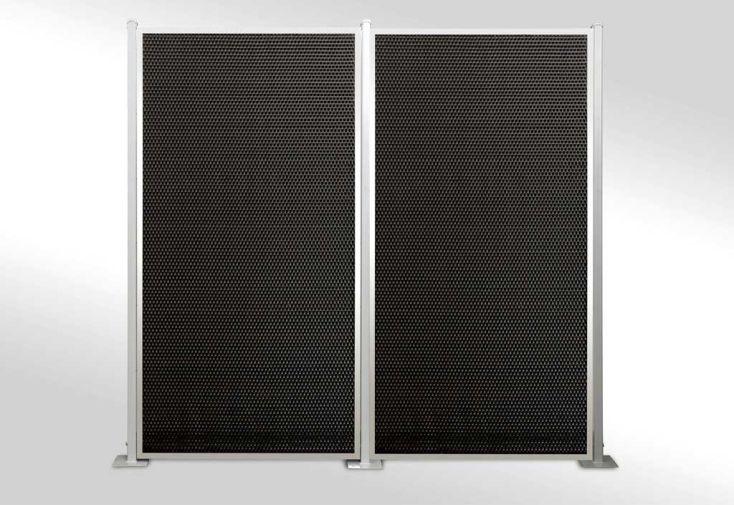 Brise vue en r sine tress e panneaux simple face 13 panneaux et rattan art - Panneaux brise vue composite ...