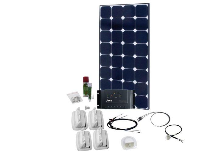 panneau solaire 100W mobile 12V avec régulateur de charge