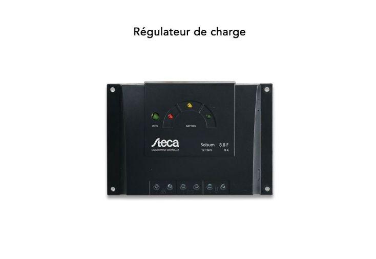 régulateur de charge Steca Solsum 8.8 pour panneau solaire et batterie 12V