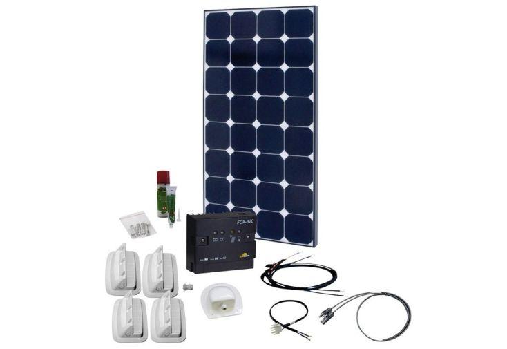 panneau solaire 100W avec régulateur de charge pour batterie 12V