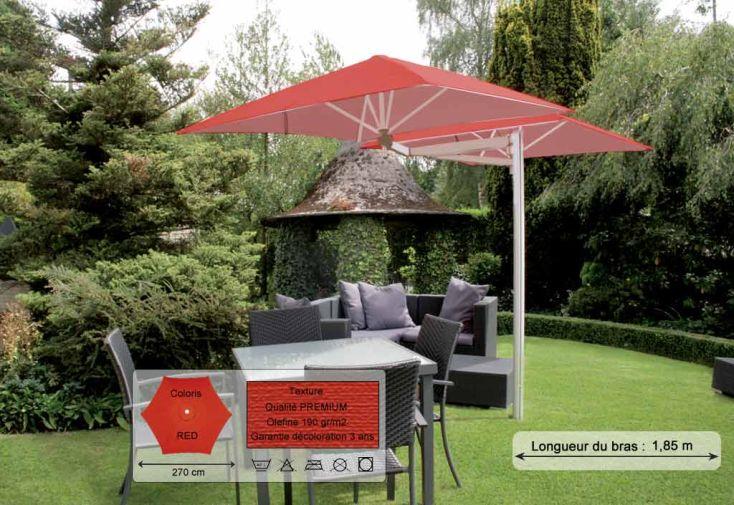 Parasol Paraflex Duoflex B185 Hexa 270 Premium Red