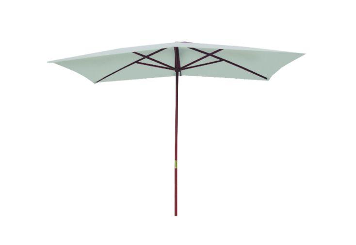 Parasol Droit en Bois et Polyester Chalêt-Jardin Beausoleil Oléron 2 x 3 m Gris