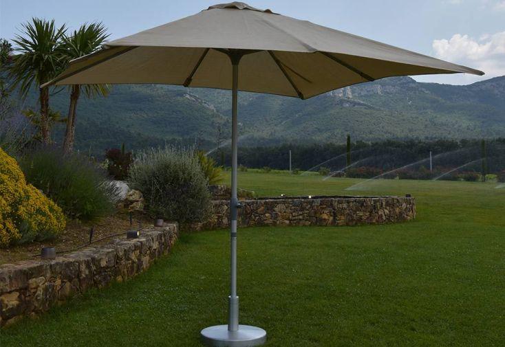 parasol droit en aluminium avec toile carrée 3 x 3 m Summer Givex
