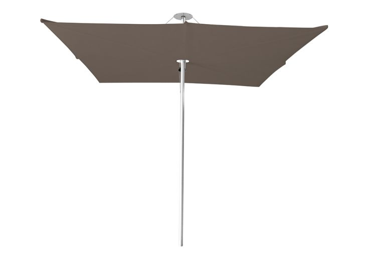 Parasol carré 250 cm Infina avec toile Solidum taupe