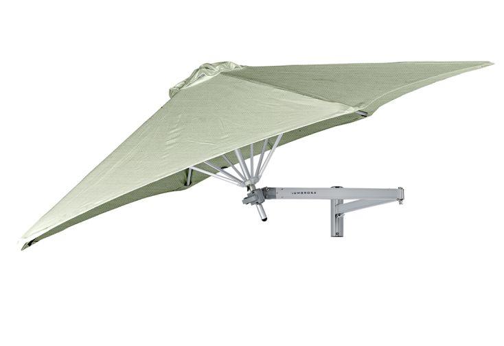 Parasol mural Umbrosa avec bras classique et toile Sunbrella Mint