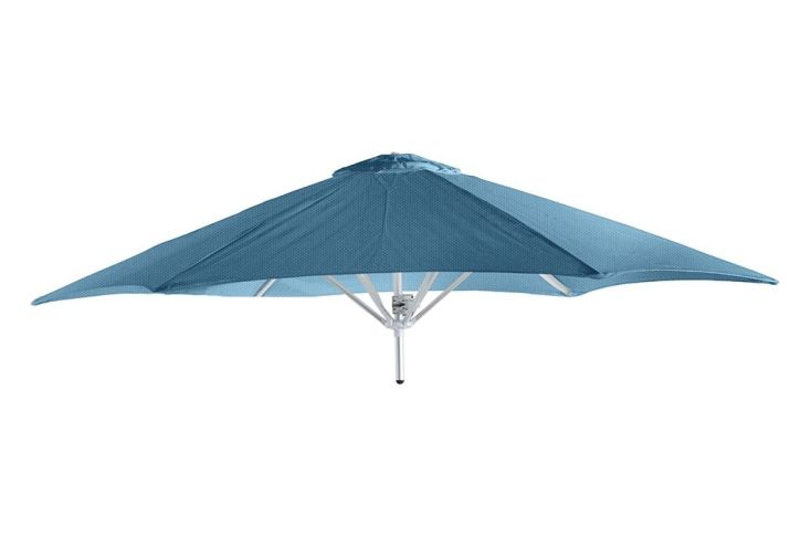 tête de parasol ronde 220 cm en aluminium Sunbrella bleu
