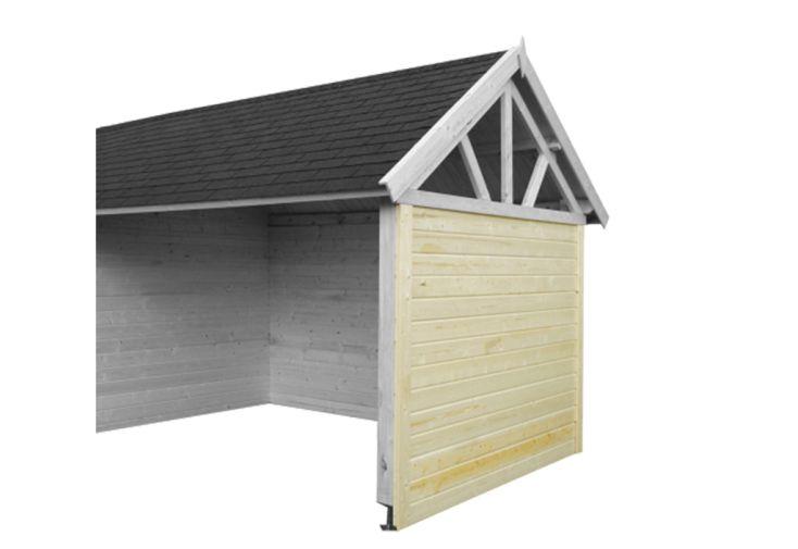 paroi latérale auvent abri de jardin en bois gloucester 19 m2 gardenas
