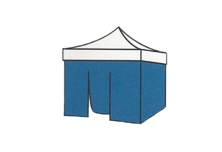 Mur avec porte pour Tente de Réception Cebu 3x3