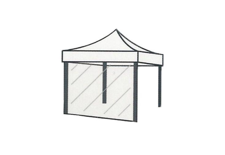 Mur Transparent pour Tente de Réception Cebu 3x3
