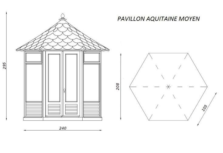 Kiosque de Jardin Hexagonal en Bois Pavillon Aquitaine 4 à ...