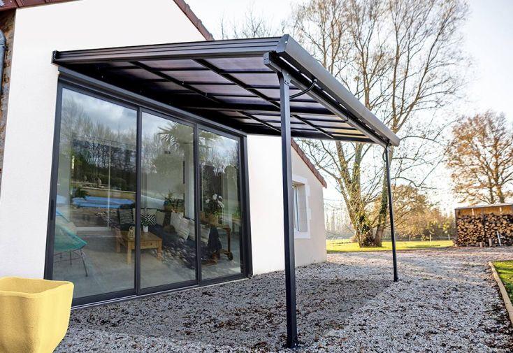 Tonnelle en alu et toiture polycarbonate 6 mm 12,04 m² Habrita