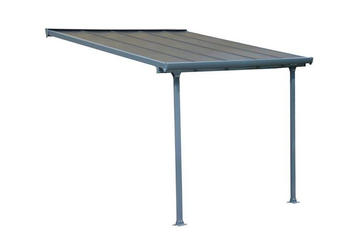 Pergola en aluminium Palram avec toiture polycarbonate 8 mm 9 m²