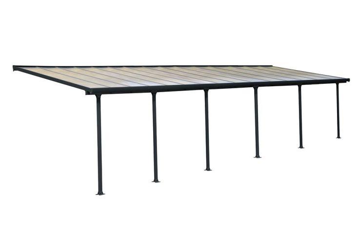 Pergola Palram en aluminium et polycarbonate 27 m² 6 poteaux