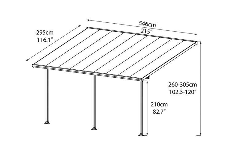 Pergola Aluminium Patio Grise (540x300)