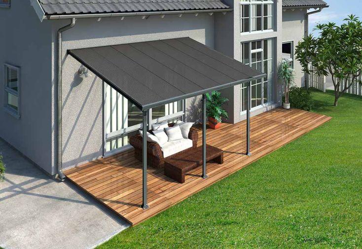pergola aluminium patio grise 300x915 palram. Black Bedroom Furniture Sets. Home Design Ideas