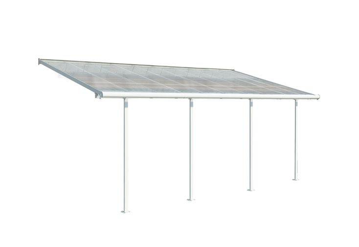 Pergola en Aluminium et Polycarbonate Palram Carnival 18 m² Blanc