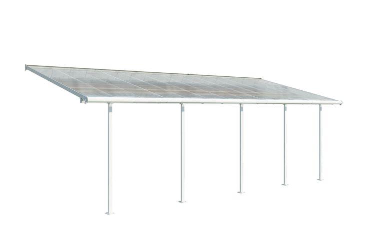 Pergola en Aluminium et Polycarbonate Palram Carnival 24 m² Blanc