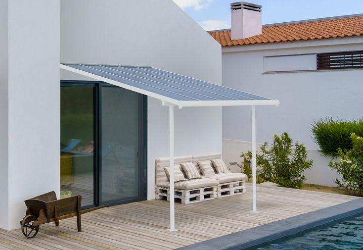 Pergola en Aluminium et Polycarbonate Palram Carnival 9 m² Blanc