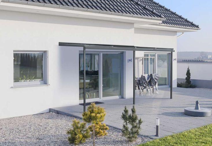pergola en aluminium et polycarbonate grise xtra 295x405 dhaze. Black Bedroom Furniture Sets. Home Design Ideas