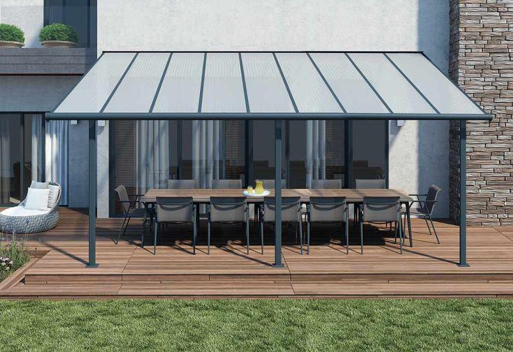 Pergola elite en aluminium et polycarbonate 555x295x260cm ad domo - Pergola aluminium polycarbonate ...