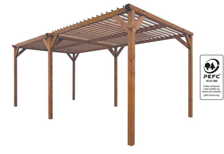 Pergola Bois Paloma (268x505x219)