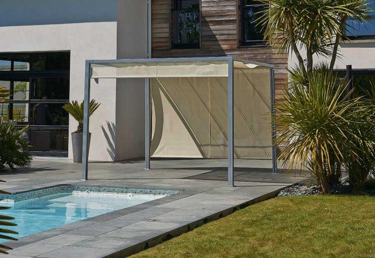 tonnelle pergola aluminium brise soleil 3x3 pergola. Black Bedroom Furniture Sets. Home Design Ideas