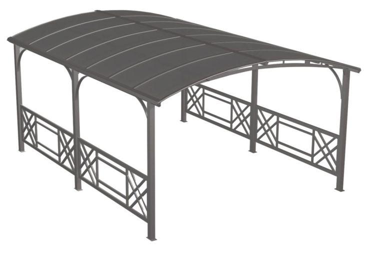 Tonnelle-Carport Aluminium (5x3,6x2,45)