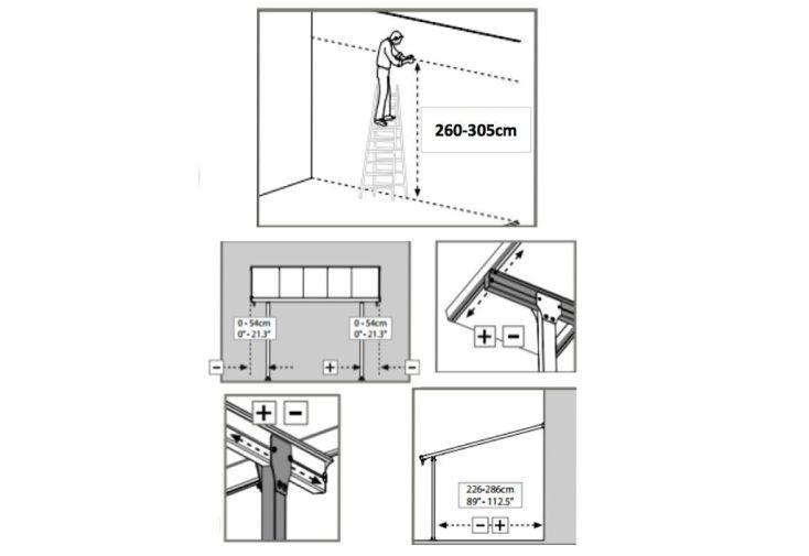 Pergola Aluminium Patio Grise (300x970)