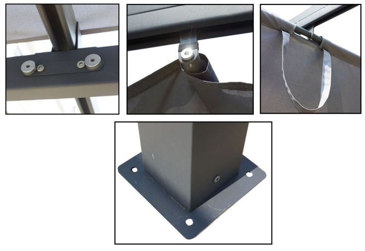 Pergola Mixte Aluminium/Acier 400x300