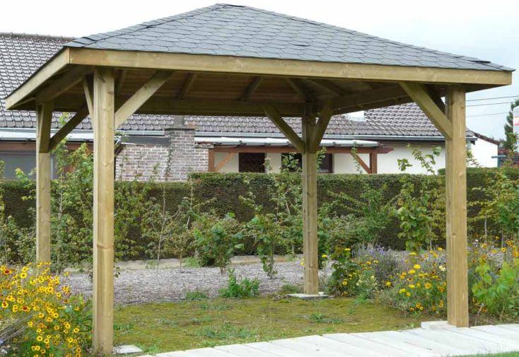 Tonnelle Bois Kiosk (351x351cm)