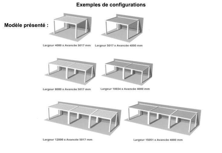 Pergola Aluminium Lames Orientables Gordes Sur Mesure 4x4,11m