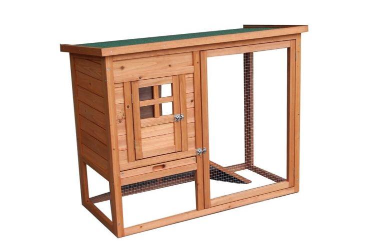 poulailler en bois avec toiture verte étanche