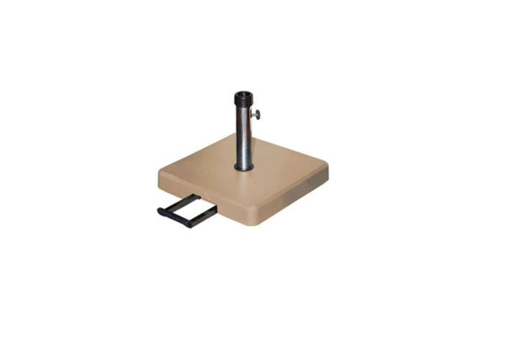 pied de parasol avec roulettes et poign e 35kg cid. Black Bedroom Furniture Sets. Home Design Ideas