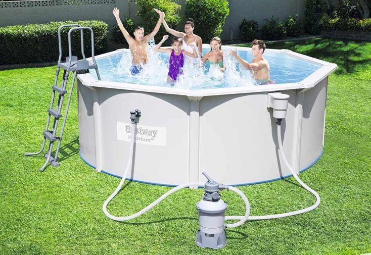Piscine acier hors sol hydrium 10 99m3 3 66m piscine for Piscine hors sol 1m22