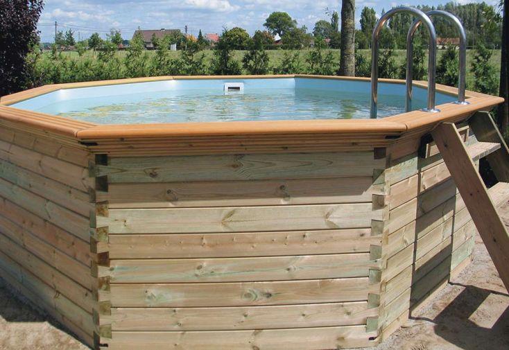 Piscine bois hors sol ronde octoo 4 0 400 cm gardipool for Piscine ronde bois