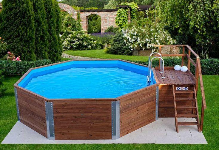 piscine hors-sol en bois 18,2 m3