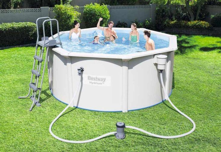 piscine autoport e ronde en acier hydrium 3m filtre cartouche bestway. Black Bedroom Furniture Sets. Home Design Ideas