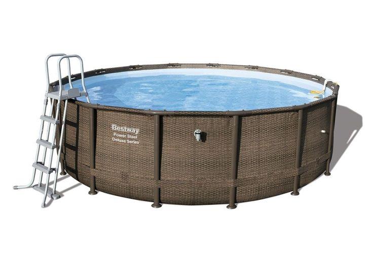 piscine power steel 4,88 mètre de diamètre et 1,22 de profondeur