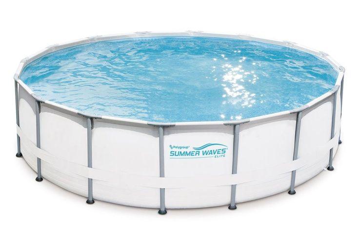 piscine tubulaire ronde en métal et en PVC 5m pas cher