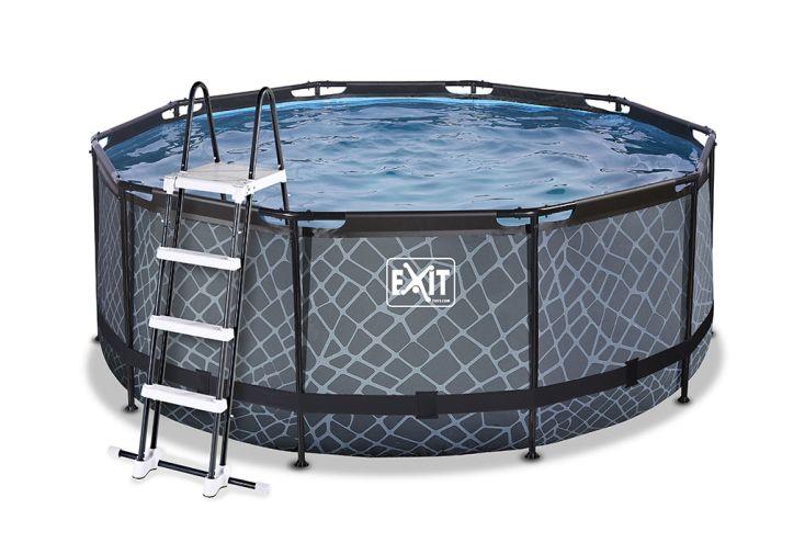 Piscine ronde hors sol Exit Toys 360 cm e PVC et acier