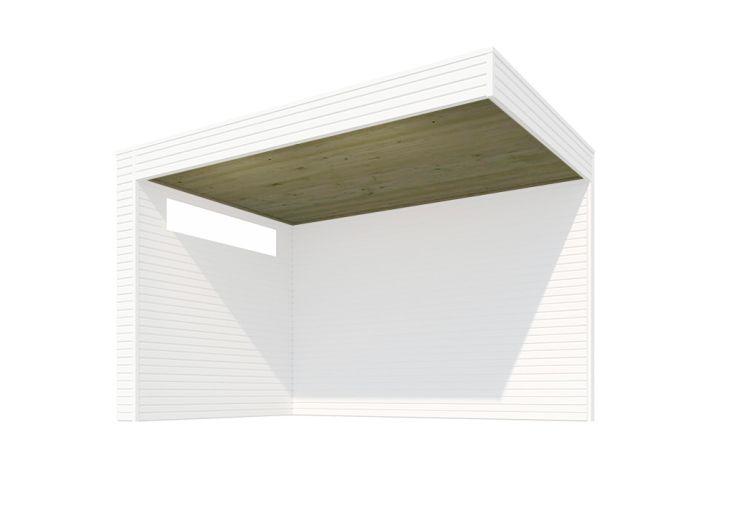 Plafond pour Extension Abri de Jardin Epicéa Traité Gardenas Qube 210 x 294 cm