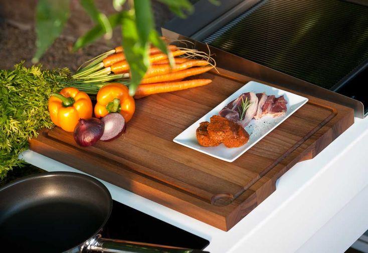 Planche à Découper en Noyer pour Cuisine d'Extérieur Indu+