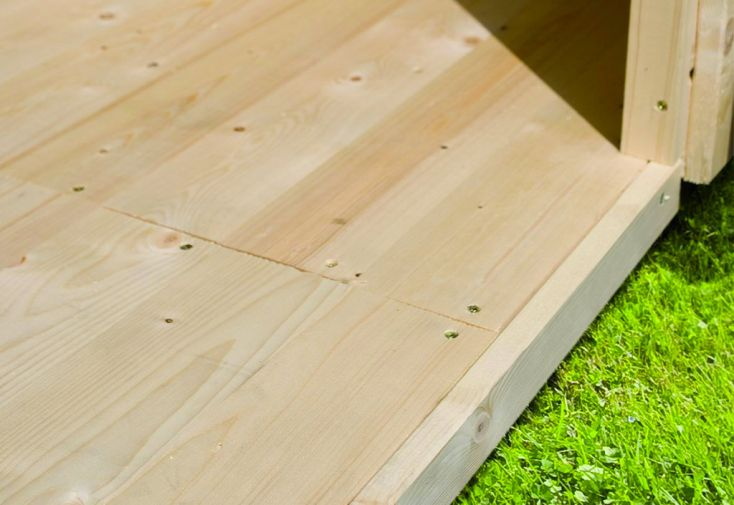 Plancher en Bois pour Abri de Jardin Karibu Espelo 3
