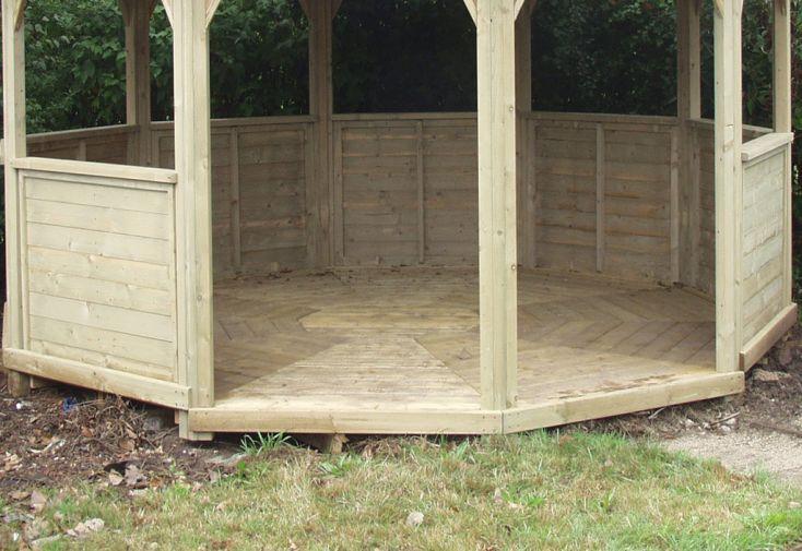 Plancher pour kiosque de jardin en bois Wagner 14 m²