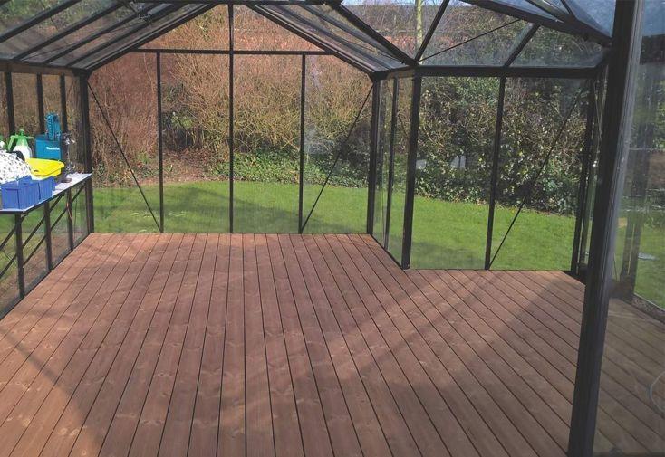 Plancher en Bois pour Serre de Jardin Orangerie Sophie 22,59 m²
